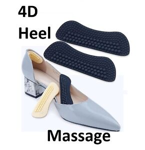 Shoe Foot Heel Massage Blister Protection Silicon Soft Pads Insole Liner UK