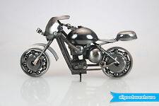 Scrap Metal Art Handmade Nuts and Bolts Racing Motorbike Gift Model Motorcycle