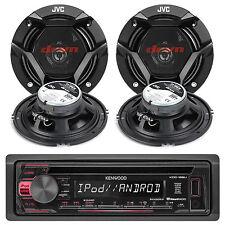 "KDC168U Indash Car MP3 Player Pandora iPod AM/FM Stereo Receiver+4 6.5"" Speakers"