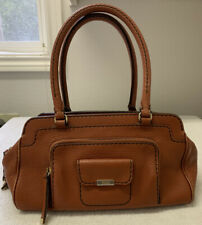 TOD'S AUTHENTIC SMALL LEATHER HANDBAG PURSE VINTAGE BROWN EXCELLENT CONDITION
