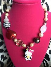 Tarina Tarantino Pink Head Collection Hello Kitty Cow Moo Mascot Heart Necklace