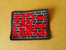 VIO-LENCE,SEW ON RED EMBROIDERED PATCH