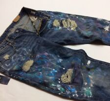Polo Ralph Lauren Paint Artwork Artist Rip Shred Distress Astor Boyfriend Jeans