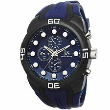 Men's Joshua & Sons JS61BU Sport Chronograph Blue Silicone Strap Watch
