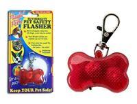 Dog pet hi vis viz safety flasher