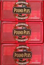3 Huge TRADER JOES Pound Plus Belgium 72% Cacao Dark Chocolate Bars 17.6 Oz ea