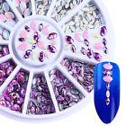 3D Nail Art Decoration Wheel Marquise Rhinestone Colorful Resin Multi-size Decor