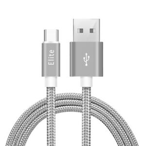 Elite-Type C Nylon Braided USB Fast Charger & Data Cable-Samsung S8, S8 Plus,S9