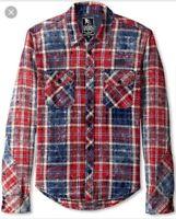 "PRPS Japanese American Denim Red ""Hydra"" Long Sleeve Shirt Size 3XL $350"
