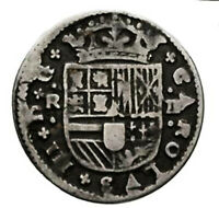 Pirate cob & Spanish colonial * Silver 2 Reales * Barcelona 1711