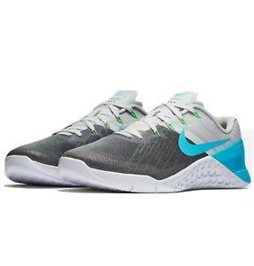 Nike Metcon 3 Pure Platinum/Blue Fury/White 852928-014 Men's Training FAST SHIP