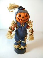 Vintage 1996 Gemmy Halloween Factory Animated Scarecrow Statue Talks Moves Arms