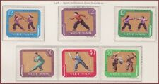VIETNAM du NORD N°604/609** Sports,1968 North Vietnam 515-520 martial arts MNH