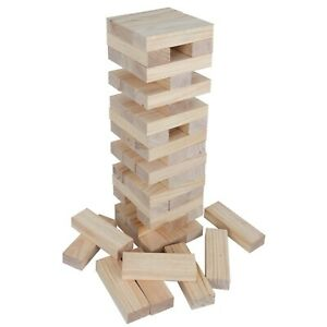 Toppling Tumble Tower Giant No Print Version With Carrying Bag 54 Pieces