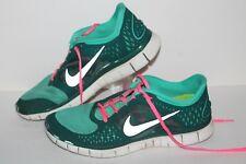 Nike Free Run 3 + Running Shoes, #510643-303, Teal/Pink/Slvr, Womens US Size 11