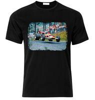 T-shirt for  49C GOLD LEAF Graham Hill fan Nordschleife  T-shirt S-XXL Xmas Gift