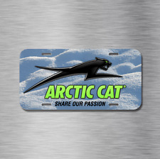 Arctic Cat Vehicle License Plate, Front Auto Tag Snowmobile NEW Snow Sled Plate
