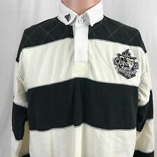 Guinness Beer Striped Polo Rugby Shirt M Black White Ireland Stout Official