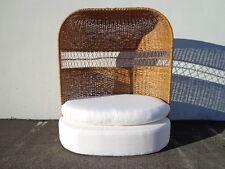 Loveseat Sofa Settee Dome Canopy Porter Chair Peacock Boho Chic Regency Wicker