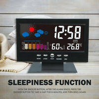 Voice Control Digital Weather Station Alarm Clock Indoor Thermometer Hygrometer