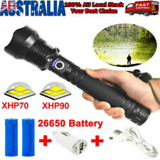 Powerful LED Flashlight Super Bright Zoomable USB Rechargeable Torch XHP90 XHP70