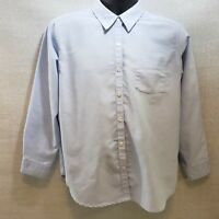 Cabin Creek Blue Woman's Oxford LS Blouse Size 12P Wrinkle Free Stain Release
