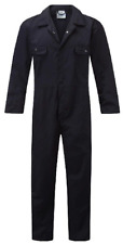 BLUE CASTLE WORK FORCE COVERALLS MENS WORKWEAR OVERALLS STUD FRONT MECHANIC
