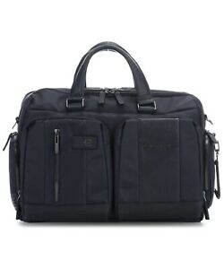 Man briefcase Piquadro Brief CA4441BR/BLU blue leather business laptop ipad bag