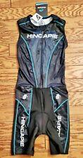 Hincapie Men's Triathlon Skinsuit Size Small Black/Teal B9-21