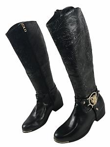 Tolle Damen Stiefel Reißverschluss Leder Ladies Knee Boot EUR 38