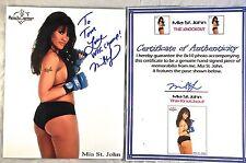 MIA ST JOHN WBC BOXER PLAYBOY MODEL AUTOGRAPH COLOR 8x10 PHOTO SIGNED COA