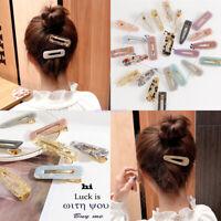 Fashion Girl Hair Clips Resin Snap Barrette Hair Clips Vintage Hair Accessory
