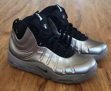 Nike Air Bakin Posite Metallic Pewter Black Silver Foamposite 618056-002 Size 12