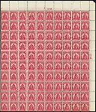 657, Vf Mint Nh Top Pl# Sheet of 100 2¢ Stamps Brookman $175.00 - Stuart Katz