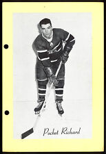 1945-1964 BEEHIVE GROUP 2 HENRI POCKET RICHARD MONTREAL CANADIENS HOCKEY PHOTO