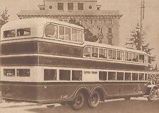G2071 France - Un autocar monstre - Stampa d'epoca - 1932 Old print