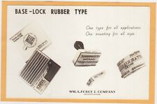Real Photo Advertising Postcard RPPC - Base-Lock Rubber Stamp Wm Force Co NY