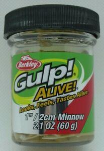 """Berkley Gulp! Alive! Minnow - 1"""" - 2.1 oz. Jar - Luma Glow"""