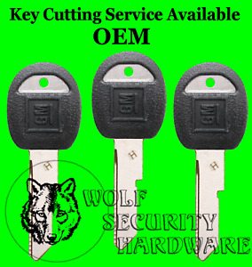 "Lot of 3 VATS Companion OEM GM Door Trunk ""H"" Key Blank Black Plastic 595198"