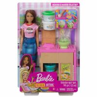 Barbie You Can Be Anything Noodle Maker Playset Brunette Doll NEW