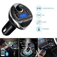Bluetooth FM Transmitter Wireless In-Car Radio AUX Adapter Car Kit Dual USB Port