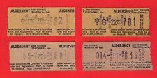 Aldershot & District Traction ~ 4 Setright Machine Issued Bus Tickets: 1960s/70s
