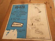 NOS VINTAGE GERBER # 40-620 SINGLE HANDLE SHOWER VALVE AND SQUARE TRIM USA