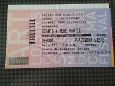 Concert Diam's 2007 Olympic Tour Ticket original place diams rap hip hop billet