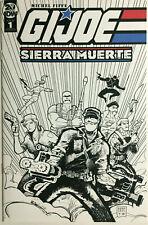 G.I. Joe Sierra Muerte #1 B/W Sketch Michel Fiffe Variant Extremely Rare  IDW NM
