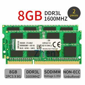 Kingston 16GB 2x 8GB 4GB 1600MHz DDR3L PC3L-12800 SODIMM 1.35V Laptop RAM Lot BT