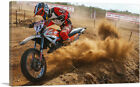 ARTCANVAS Dirt Bike Motocross Racing Canvas Art Print