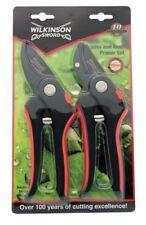 Wilkinson Sword 1111174w Bypass & Anvil Pruner Secateurs Twin Pack Gardening Set