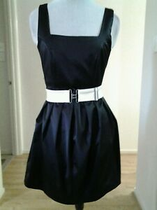 LADIES WAYNE COOPER SATIN FIT AND FLARE DRESS SIZE 8