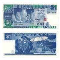 Pick 18a Singapure  / Singapore 1 Dollar 1987  Unc. / 8214573vvv